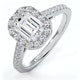 Annabelle GIA Diamond Halo Engagement Ring in Platinum 1.65ct G/SI1 - image 1