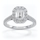 Annabelle GIA Diamond Halo Engagement Ring in Platinum 1.65ct G/SI1 - image 3