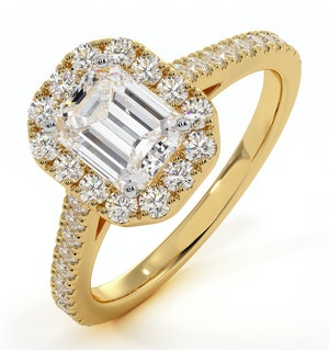 Annabelle GIA Diamond Halo Engagement Ring in 18K Gold 1.65ct G/VS1