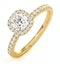 Beatrice GIA Diamond Halo Engagement Ring in 18K Gold 1ct G/SI2 - image 1
