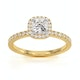 Beatrice GIA Diamond Halo Engagement Ring in 18K Gold 1ct G/SI1 - image 3