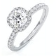 Beatrice GIA Diamond Halo Engagement Ring 18K White Gold 1.25ct G/VS2 - image 1