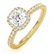 Beatrice GIA Diamond Halo Engagement Ring in 18K Gold 1.25ct G/VS2 - image 1