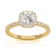 Beatrice GIA Diamond Halo Engagement Ring in 18K Gold 1.25ct G/SI1 - image 3