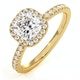 Beatrice GIA Diamond Halo Engagement Ring in 18K Gold 1.48ct G/SI2 - image 1