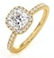 Beatrice GIA Diamond Halo Engagement Ring in 18K Gold 1.48ct G/SI1 - image 1