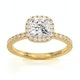 Beatrice GIA Diamond Halo Engagement Ring in 18K Gold 1.48ct G/SI2 - image 3