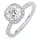 Beatrice GIA Diamond Halo Engagement Ring 18K White Gold 1.65ct G/VS1 - image 1