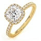 Beatrice GIA Diamond Halo Engagement Ring in 18K Gold 1.65ct G/SI1 - image 1