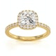 Beatrice GIA Diamond Halo Engagement Ring in 18K Gold 1.65ct G/SI1 - image 3