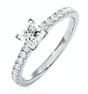 Katerina GIA Princess Diamond Engagement Ring 18KW Gold 1.00ct G/SI2
