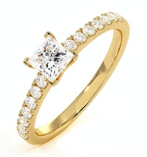 Katerina GIA Princess Diamond Engagement Ring 18K Gold 1.00ct G/SI2