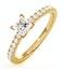 Katerina GIA Princess Diamond Engagement Ring 18K Gold 0.85ct G/VS2 - image 1