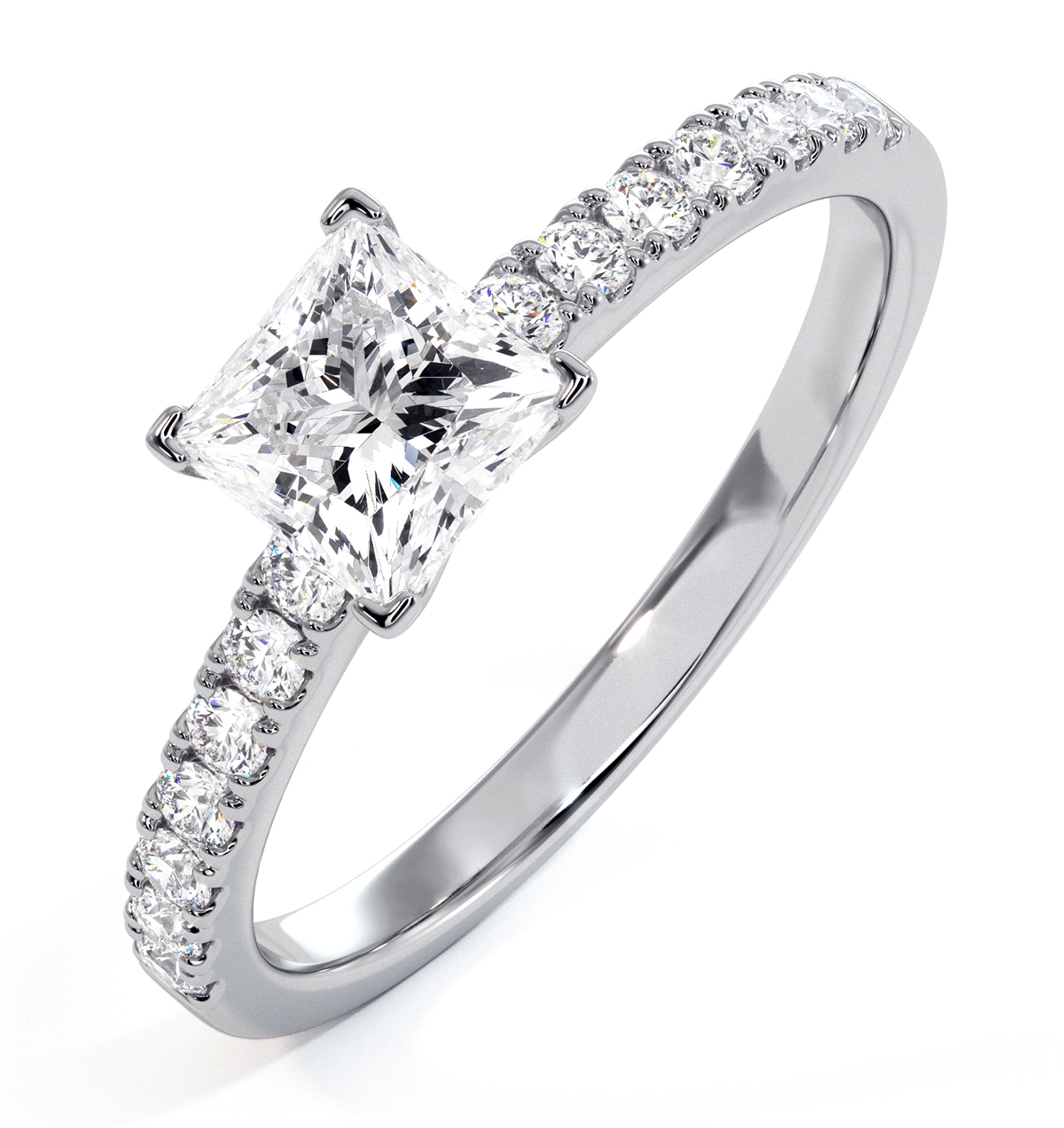 Katerina GIA Princess Diamond Engagement Ring Platinum 1.15ct G/VS1 - image 1