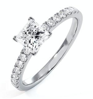 Katerina GIA Princess Diamond Engagement Ring Platinum 1.25ct G/SI2