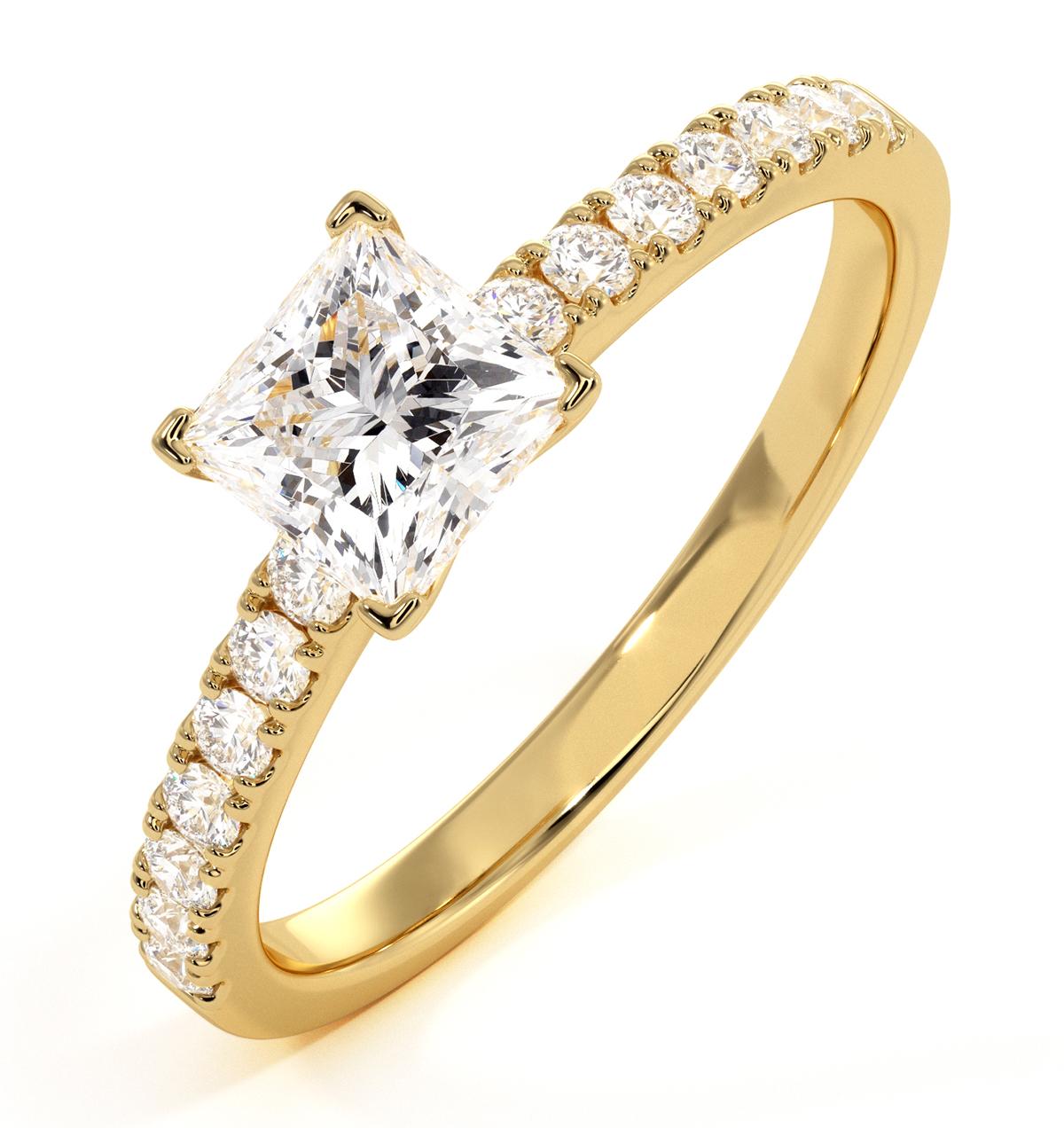 Katerina GIA Princess Diamond Engagement Ring 18K Gold 1.15ct G/SI2 - image 1