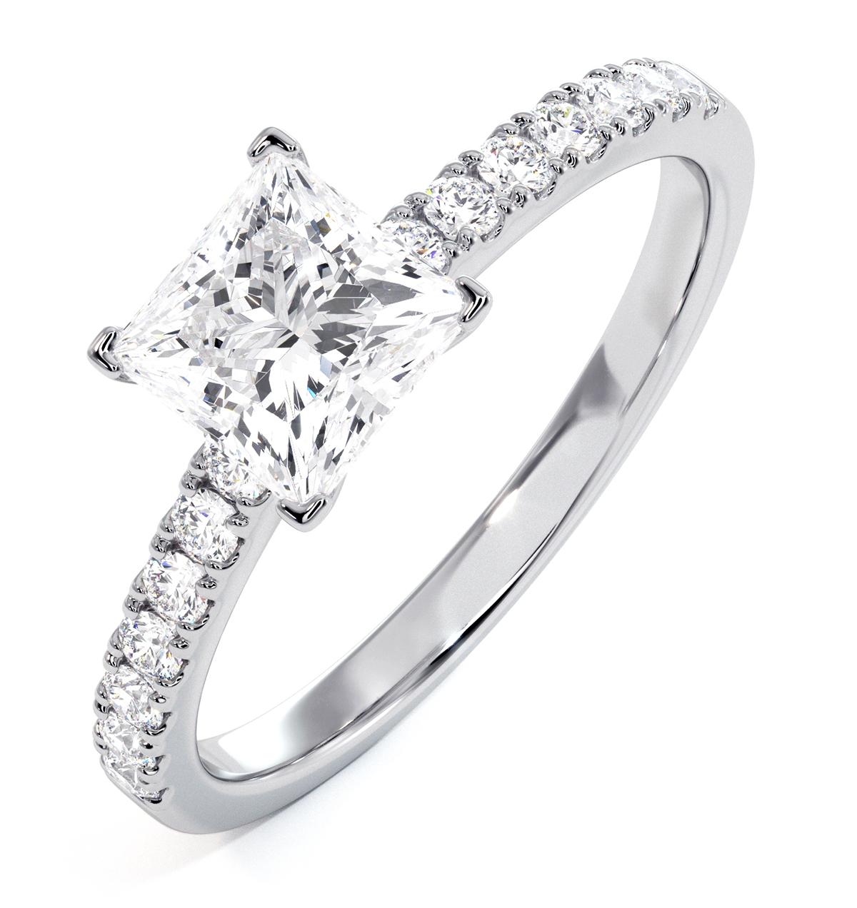 Katerina GIA Princess Diamond Engagement Ring 18KW Gold 1.50ct G/SI1 - image 1
