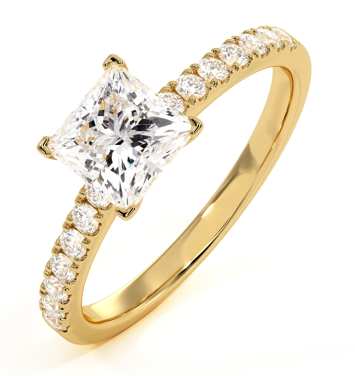 Katerina GIA Princess Diamond Engagement Ring 18K Gold 1.50ct G/SI2 - image 1