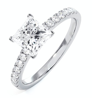 Katerina GIA Princess Diamond Engagement Ring Platinum 1.65ct G/VS2