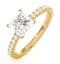Katerina GIA Princess Diamond Engagement Ring 18K Gold 1.55ct G/VS2 - image 1