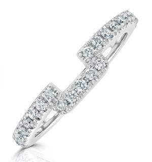 Annabelle Matching Wedding Band 0.30ct G/Si Diamond in Platinum