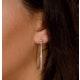 Diamond Hoop Earrings 35mm in Sterling Silver - Ug3237 - image 4