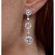 Tesoro Collection White Topaz Circle Triple Dangle Earrings 925 Silver - image 4