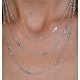 Tesoro Collection Multi Strand White Topaz Necklace in 925 Silver - image 3
