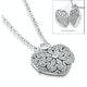 Tesoro White Topaz Vintage Heart Locket Necklace in 925 Silver - image 4