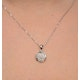 Diamond Cluster Necklace in Sterling Silver - UR3220 - image 3