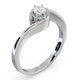 Certified Leah 18K White Gold Diamond Engagement Ring 0.25CT - image 2