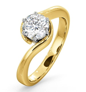 Certified 0.90CT Leah 18K Gold Engagement Ring G/SI1