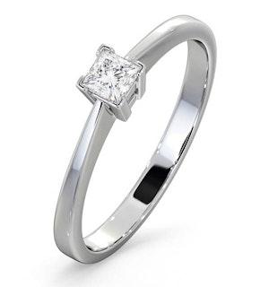 Certified Lauren Platinum Diamond Engagement Ring 0.25CT-G-H/SI