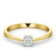 Certified Lauren 18K Gold Diamond Engagement Ring 0.25CT-F-G/VS - image 3
