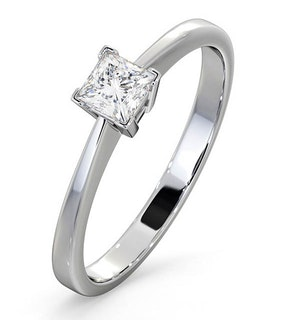 Certified Lauren Platinum Diamond Engagement Ring 0.33CT-G-H/SI