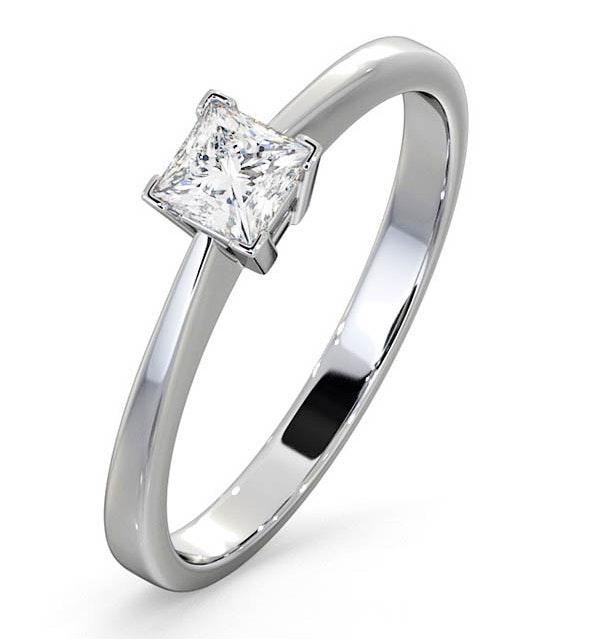 Certified Lauren Platinum Diamond Engagement Ring 0.33CT-F-G/VS - image 1