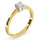 Certified Lauren 18K Gold Diamond Engagement Ring 0.33CT-F-G/VS - image 2