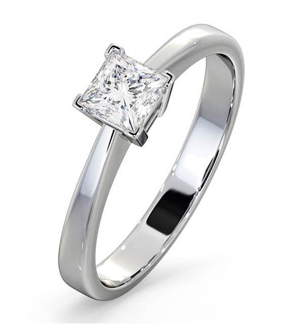 Engagement Ring Certified Lauren 18K White Gold Diamond 0.50CT-F-G/VS - image 1