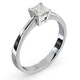 Certified Lauren 18K White Gold Diamond Engagement Ring 0.50CT-G-H/SI - image 2