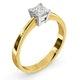Certified Lauren 18K Gold Diamond Engagement Ring 0.50CT-G-H/SI - image 2