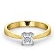 Certified Lauren 18K Gold Diamond Engagement Ring 0.50CT-G-H/SI - image 3