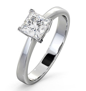 Certified Lauren 18K White Gold Diamond Engagement Ring 0.75CT-F-G/VS