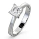 Certified Lauren Platinum Diamond Engagement Ring 0.75CT-F-G/VS - image 1