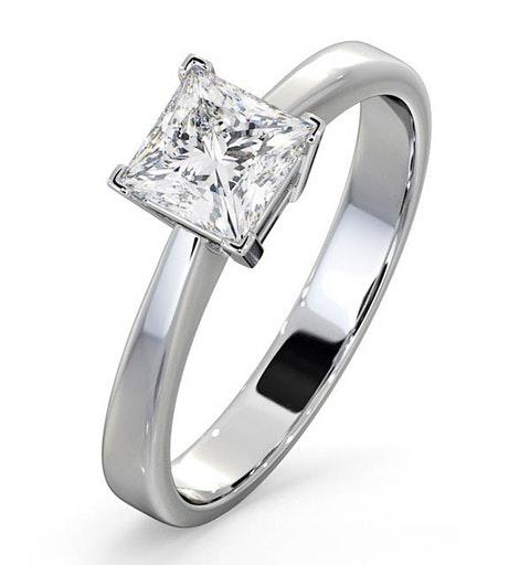 Certified Lauren 18K White Gold Diamond Engagement Ring 0.75CT-F-G/VS - image 1