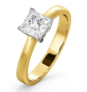 Certified Lauren 18K Gold Diamond Engagement Ring 0.75CT-G-H/SI