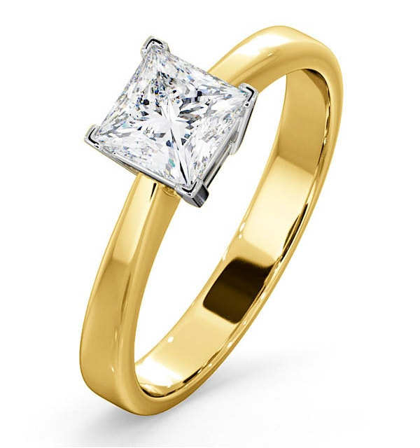 Certified Lauren 18K Gold Diamond Engagement Ring 0.75CT-G-H/SI - image 1