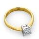 Certified Lauren 18K Gold Diamond Engagement Ring 0.75CT-F-G/VS - image 4