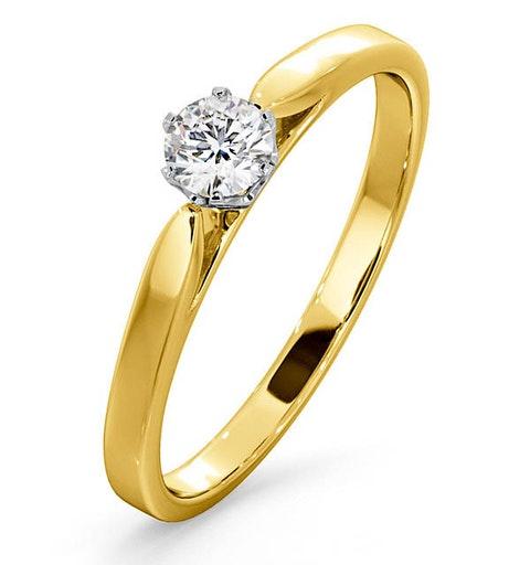 Certified Low Set Chloe 18K Gold Diamond Engagement Ring 0.25CT - image 1