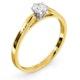 Certified Low Set Chloe 18K Gold Diamond Engagement Ring 0.33CT-F-G/VS - image 2