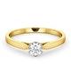 Certified Low Set Chloe 18K Gold Diamond Engagement Ring 0.33CT-F-G/VS - image 3